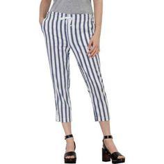 Faded Glory Women's Drawstring Linen Capri Pants, Size: 6, Multicolor