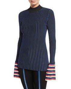 d4f788ebf9dd EMILIO PUCCI Striped Crewneck Pullover Sweater