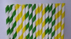 50 John Deere- Kelly Green & Yellow Paper Straws-  John Deere Party- Birthday Decor on Etsy, $7.50
