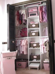 Baby Closet Ideas  | Nursery Organization | Baby Closet Pictures | How To Organize Baby Closet | Pink Nursery Ideas | Baby Girl Nursery Closet