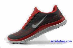 big sale f06fd 79c1b Damen Nike Free 3.0 V4 Schuhe Schwarz Rot
