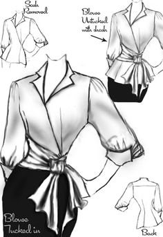 1950s inspired Cotton Blouse design by Amber Middaugh