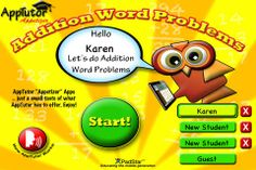 Addition Word Problems Overview – This app teaches the foundation for addition word problems using a wide variety of strategies. The app contains one full chapter of animated lessons teaching how to work out word problems in addition. After mastering the skills, move to the Sandbox which creatively interacts with the student to practice wide variety of word problems. Free Math Apps, Addition Words, New Students, Word Problems, Teaching Math, Sandbox, Appetizer, Foundation, Teacher