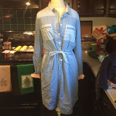 Holding Horses Denim Dress Excellent condition Anthropologie Dresses Long Sleeve