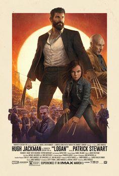 Century Fox revealed the new Logan IMAX poster. It features Hugh Jackman as Logan / Wolverine, Patrick Stewart as Charles Xavier / Professor X. Hugh Jackman, Wolverine Movie, Logan Wolverine, Wolverine Art, Logan Xmen, Wolverine Avengers, Deadpool, X Men, Movie Posters