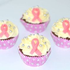 Rosa bandet cupcakes