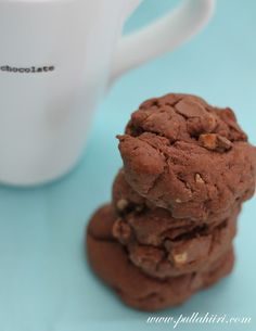 Chocolate Cookies with Crushed Digestive Biscuits and Chocolate Chunks