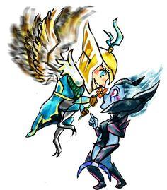 Skywrath mage & vengeful spirit