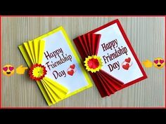 Easy and beautiful card for new year New year card making handmade / DIY new year card 2020 Friendship Day Cards, Friendship Day Greetings, Friendship Lyrics, Birthday Cards For Mom, Handmade Birthday Cards, Birthday Greeting Cards, New Year Card Making, Handmade Greeting Card Designs, Paper Crafts Origami