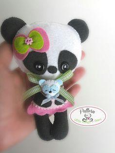 Mommy Panda PDF Pattern-Panda doll sewing by LittleThingsToShare