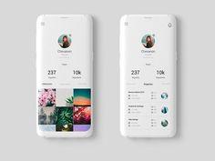 Simple Web Design Techniques for the Viewer Design Typography, Design Logo, Design Poster, App Ui Design, Interface Design, Digital Communication, Profile App, Themes For Mobile, Android App Design