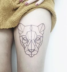 ·Geometric Lioness Tattoo· by Pati San Martín