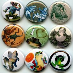 Frogs Toads I Love Amphibians pinback button set by Yesware11 on Etsy.. Click for details!