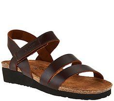 Naot Leather Cross-strap Sandals - Kayla