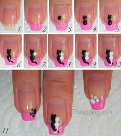 Decoración de uñas de gatos. Encuentra diseños geniales de decoración de uñas de gatos, si te gusta tener animalitos en tus uñas seguro te gustaran. Para