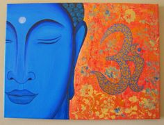 Zen Buddha Spiritual PaintingYoga paintingOm Zen by ArtbyRangrez