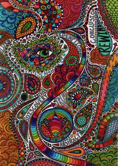 Doodle 1 in colour by doodler.♥, via Flickr