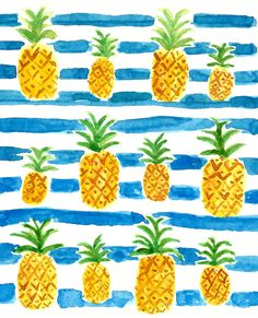 summer pineapple print