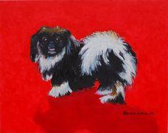 """""""Pekingese"""" pet portrait by Patricia Thomas"""