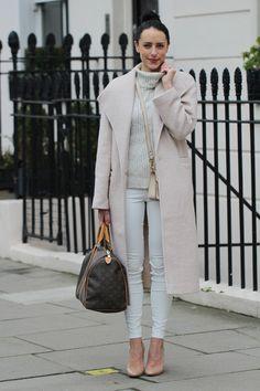 Asos Cream Coat - Winter Neutrals - OOTD - Clutch & Carry-on