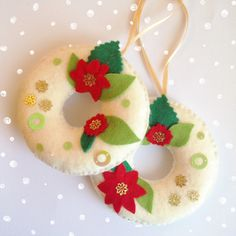 Felt ornaments- perfect christmas gift!