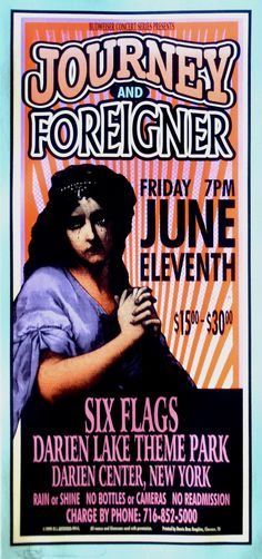1999 Journey & Foreigner concert poster! NOW THAT MUST HAVE BEEN A GREAT CONCERT!!!