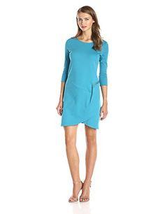 New Joan Vass Women's Three Quarter Sleeve Scoop Neck Dress online. Find the  great AxParis Dresses from top store. Sku woso82403nopt74638