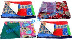 Designer Kantha Reversibale Quilts Throw Retail : https://www.craftnfashion.com Whatsapp : 9375519381 E-mail : craftnjewelery@gmail.com