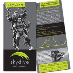 Skydive PE brochure Skydiving, Tandem, Dog Design, Coaching, Paisley, Dogs, Image, Tandem Jump, Training