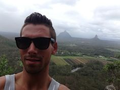 "An amazing feeling to climb mountains here i'm start climbing one of The Glass House Mountains ""Mount Tibrogargan"""