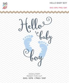 Hello Baby Boy SVG DXF PNG eps baby Nursery Newborn  decal Cut File for Cricut Design, Silhouette studio, Sure A Lot, Makes the Cut by SvgCutArt on Etsy