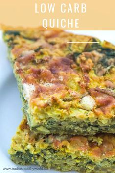 Heerlijke koolhydraatarme quiche met broccoli en spinazie. Ideaal voor mensen die graag low carb willen eten. Low Carb Quiche, Low Carb Breakfast, Frittata, Om, Keto, Lunch, Eat Lunch, Omelette