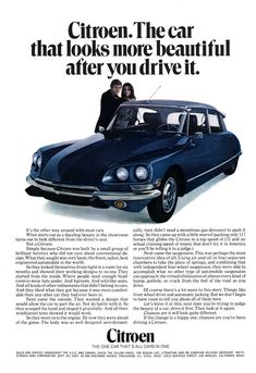 Citroën in the USA 1970 D series advertisement