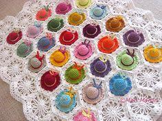 Crochet Baby Blanket Colorful Mini Hat Pattern DIY PDF Nursery Decoration Baby Shower Download Immediately on Etsy, $6.75 AUD