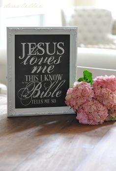 Dear Lillie: Jesus Loves Me