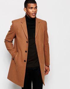 River+Island+Wool+Overcoat+In+Camel