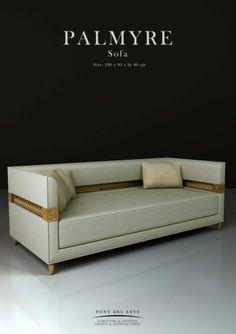 Palmyre Sofa - Pont des Arts - Designer Monzer Hammoud - Paris-