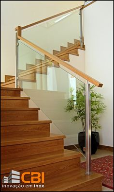 Steel Stair Railing, Steel Stairs, Staircase Railings, Banisters, Algarve, Blue Side Table, Pedestal Side Table, Glass Stairs, Parade Of Homes