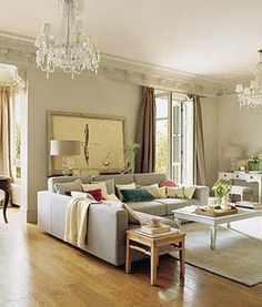 Living Room Decor Home Soft Colors Gray Sofa Apartment Interior Design Home Living Room, Living Room Designs, Living Room Decor, Living Spaces, Apartment Sofa, Apartment Interior Design, Interior Decorating, Style At Home, Home Decoracion