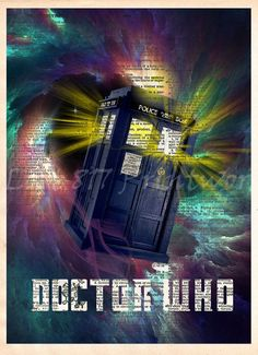 Doctor Who art print of the Awesome Tardis traveling through time and space! These unique and original artwork are printed on authentic vintage early dictionary paper from books i have rescued The Tardis, Tardis Doctor Who, Tardis Art, Doctor Who Art, 11th Doctor, Tardis Door, Matt Smith, David Tennant, Science Fiction