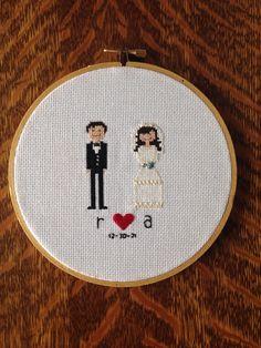 Husband and wife cross stitch