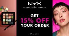Get 15% off at NYX Professional Makeup. Get 15% off when you shop at NYX Professional Makeup using my exclusive referral link. Limited time offer. Nyx, Professional Makeup, Up Styles, Eyelashes, Hair Care, Make Up, Coding, Face, Winter Wardrobe