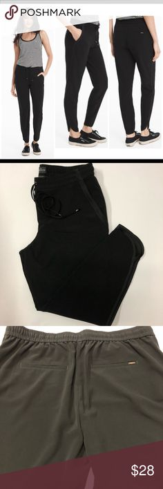 """Price Drop! White House Black Market Jogger NWOT, amazing WHBM """"The Jogger"""". Tulip hem, elasticized drawstring waist,side seam pockets with matte detail, back welt pockets.  Dress them up or wear them casual. So versatile!  Inseam about 27"""". 92% polyester, 8% spandex. White House Black Market Pants Track Pants & Joggers"""