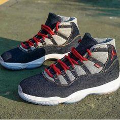 "pretty nice d6051 bb0a8 Custom Products Retailer on Instagram  ""Should Nike release these Levi Jordan  11 s  Done by  nevertoolavish ⠀  dope  solecollector  nicekicks  kicks ..."