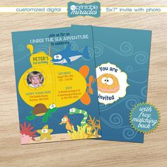 Under the sea photo invitation Printable by MyPrintableMiracles
