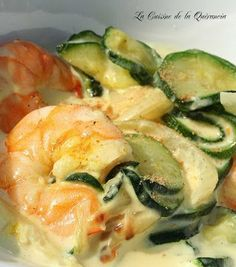 Papillotes with prawns zucchini and curry cream Ptitchef recipe Cubed Beef Recipes, Easy Soup Recipes, Healthy Recipes, Roast Recipes, Easy Cooking, Healthy Cooking, Beef Barley Soup, Easy Healthy Dinners, Food Inspiration