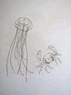 jellyfish and crab by chizu kobayashi  Flickr