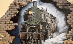 3d trains wall murals design ideas best wall murals and ideas