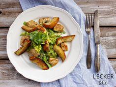 Ceasar-Salad mit Bärlauch Avocado Toast, French Toast, Dinner, Breakfast, Food, Spring, Meat, Dinner Ideas, Treats