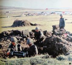 Morteros argentinos en Malvinas ~ FDRA - Malvinas